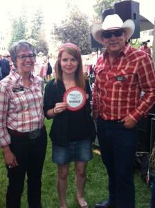 (Left) Doreen Saunderson, (Centre) Caitlin Simpson (Right) Jim Casey
